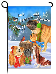 Let Heaven and Nature Sing Flag, Small  -              By: MaryLou Troutman
