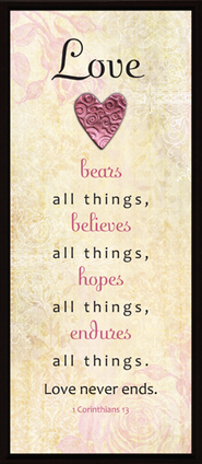 Love Bears Believes Hopes Endures Plaque  -