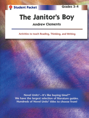 The Janitor's Boy, Novel Units Student Packet, Grades 3-4   -     By: Andrew Clements