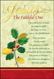 Jesus the Faithful One Christmas Cards, Box of 18  -