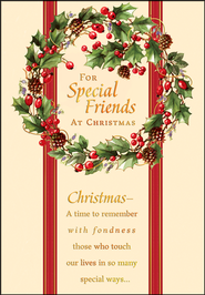 For Special Friends Christmas Cards, Box of 18  -