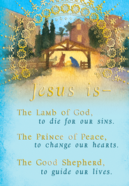 Jesus is the Lamb of God Christmas Cards, Box of 18  -