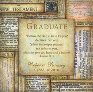 Personalized, Graduate Square Bible Plaque   -