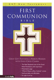First Communion Bible, GNT New Testament, White Leather-look   -              By: Livingstone Corporation