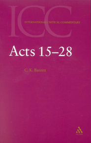 Acts 15-28   -     By: C.K. Barrett