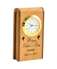 Personalized, Father's Day Wooden Clock   -