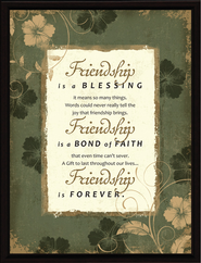 Friendship is a Blessing Plaque  -