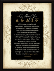 Marry You Again Plaque  -