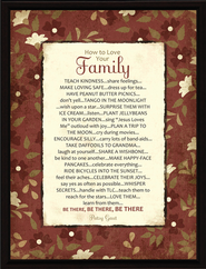 How to Love Your Family Plaque  -
