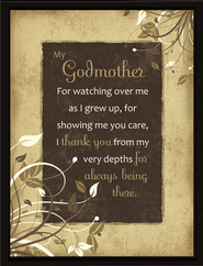 My Godmother Plaque  -