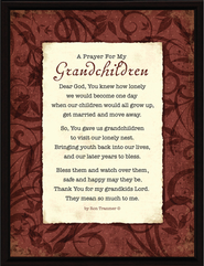 A Prayer for My Grandchildren Prayer  -