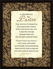 A Prayer for My Pastor Plaque  -
