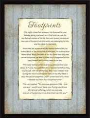 Footprints Plaque  -