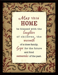 May This Home Be Blessed Framed Plaque, Gift Boxed  -