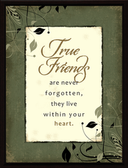 True Friends are Not Forgotten Framed Plaque, Gift Boxed  -