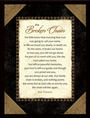 Broken Chain Framed Plaque, Gift Boxed  -     By: Ron Tranmer