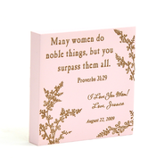 Personalized, Pink Magnet, Many Women Do Noble Things   -