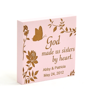 Personalized, Pink Magnet, Sisters By Heart   -
