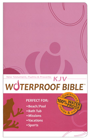 KJV Waterproof Bible New Testament with Psalms & Proverbs, Pink/Brown Floral  -