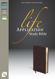 NAS Life Application Study Bible, Bonded leather, Burgundy  - Imperfectly Imprinted Bibles  -