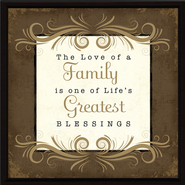 The Love of a Family Plaque  -