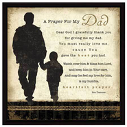 A Prayer for My Dad Plaque  -