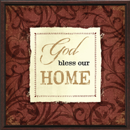 God Bless our Home Plaque  -