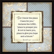 For I Know the Plans Plaque  -
