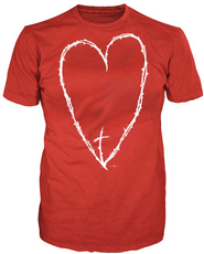 Heart Thorns Shirt, Red, 3X Large  -