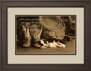 I Will Lie Down Framed Print  -              By: Robert Dawson