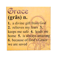 Grace Definition Print, 12 Square   -