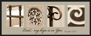 Alphabet Print, Hope, Mini, Tan  -     By: Jennifer Blakeley