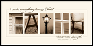 Alphabet Print, Faith, Philippians 4:13, Mounted Print  -     By: Jennifer Blakeley