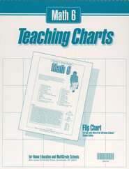 BJU Math 6, Teaching Charts Flip Chart   -