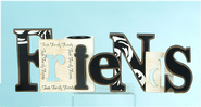 Friends Cut Out Word with Tea Light Holder  -