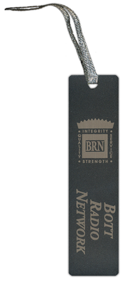 Bott Radio Network Bookmark, Black   -