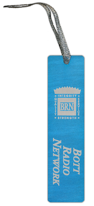 Bott Radio Network Aluminum Bookmark, Blue  -