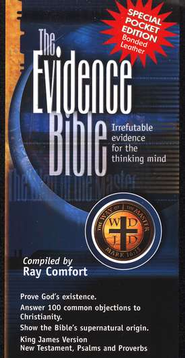 The Evidence Bible: KJV New Testament with Psalms & Proverbs, Pocket Edition--bonded leather, black  -     Edited By: Ray Comfort