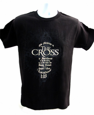 The Message of the Cross Shirt, Black, XX Large  -
