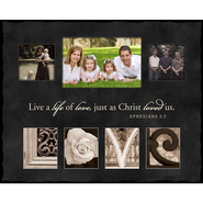 Live a Life of Love, LOVE, Alphabet Photo Frame, Large  -