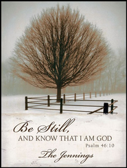 Personalized Mounted Lithograph, Be Still   -     By: David Lorenz Winston
