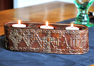 Faith Votive Candle Holder  -
