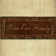 Bless Our Family Metal Wall Sign  -