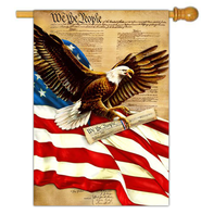 Freedom Eagle Flag, Large  -