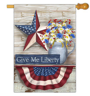 Give Me Liberty Flag, Large  -              By: MaryLou Troutman