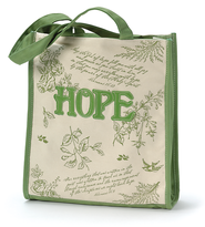 Tote Bag Floral Green Hope  -