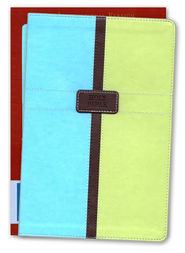 NIV Life Application Study Bible, Italian Duo-Tone, Pool Blue/Melon Green 1984, Case of 12  -