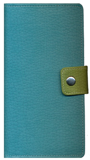 NIV Bible Clutch, Italian Duo-tone, Caribbean Blue & Palm Green  1984  -