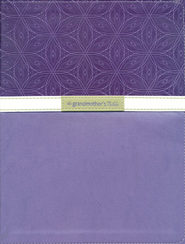 NIV Grandmother's Bible, Large-Print Edition--bonded leather, violet 1984  -
