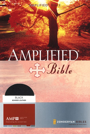 Amplified Bible, Expanded Edition, Bonded leather, Black,  Thumb-Indexed  -